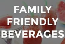 FAMILY FRIENDLY BEVERAGES / Family friendly beverages and drink recipes.  // family friendly drink recipes // non alcoholic drink recipes // fun drink recipes // family friendly beverages // drink recipes non alcoholic //