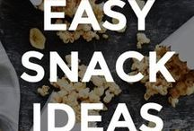 EASY SNACK IDEAS / Simple snack ideas and recipes.  // snack recipe ideas // what to eat for a snack // healthy snack recipes // recipes for snacks // easy snack recipes // homemade snack recipes //