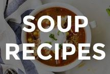 SOUP RECIPES / A roundup of the best soup recipes around!  // easy soup recipes // soup recipe ideas // homemade soup recipes // how to make soup from scratch // the best homemade soup recipes //