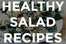 HEALTHY SALAD RECIPES / Colorful and healthy salad recipes that anyone can make.  // easy salad recipes // homemade salad recipes // salad recipe ideas // healthy salad recipe ideas // salad recipe ideas // what to put on a salad // how to make a healthy salad // summer salad recipes //