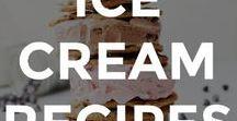 ICE CREAM RECIPES / The best ice cream recipes and frozen treats.  // homemade ice cream recipes // ice cream recipe ideas // recipes for summer // easy ice cream recipes // frozen treat recipes // how to make ice cream from scratch // how to make ice cream //