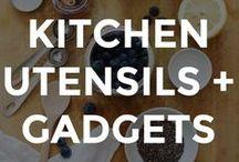 KITCHEN UTENSILS & GADGETS / Kitchen utensil, gadgets and dream kitchen design.   // best kitchen gadgets // must have kitchen gadgets // best kitchen utensils // best kitchen gadgets // what to have in your kitchen // what you need in your kitchen //