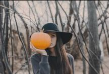 HELLOWEEN INSPIRATION / Style and costume for Halloween, use a pumpkin for Halloween