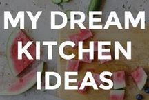 MY DREAM KITCHEN IDEAS / My dream kitchen ideas. White, modern, and classic kitchen ideas with natural textures and elements.  // kitchen home decor // DIY kitchen home decor // decorating the kitchen // kitchen decor ideas // dream kitchens //