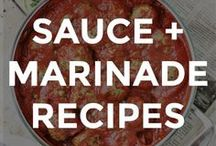 SAUCE & MARINADE RECIPES / Easy and simple sauce and marinade recipes.   // easy sauce recipes // easy marinade recipes // homemade sauce recipes // homemade marinade recipes // how to make sauces from scratch // how to make marinades from scratch // sauces for chicken // sauces for steak // sauces for pasta // easy meat marinade recipes //