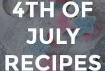 4TH OF JULY RECIPES / Fun 4th of July recipes for the family.  // july 4th recipe ideas // fourth of july recipes // recipes for fourth of july // recipes for july 4th // independence day recipes // homemade fourth of july recipes //