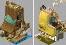 [MY WORK] Concept Design / Game house concept design