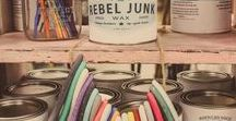Rebel Junk Paint / REBEL JUNK PAINT is a chalk and mineral based paint that is specifically designed for DIYers with a love for up-cycling furniture and home decor. Low VOC!