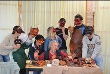 """workshop """"Costruzione maschera in cuoio"""" / workshop di due giorni sulla costruzione della maschera in cuoio per la commedia dell'arte.  Rabbit Hole ha avuto come insegnante Renzo Sindoca!"""