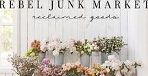 Rebel Junk Blog / Our blog is full of fun, vintage,  vendor reviews, vendor support and just a few of my favorite things! Market Displays, home decor, vintage, farmhouse