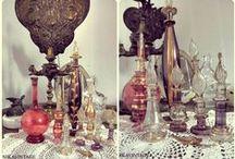 MUNDO PERFUMERO / perfumeros, cristal, delicado, antiguo vintage