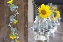 Mason Jar Vases / Using mason jars as vases