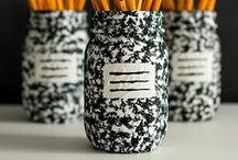 Mason Jar Teacher Gift & Back-To-School Ideas / Mason Jar Crafts for Back-to-School Storage and Organization ... and Creative Teacher Gift Ideas! / by Mason Jar Crafts {love!}