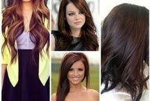 Brunette Hair / A Board with Hairstyle Ideas for Brown Hair