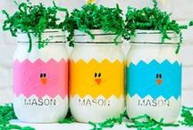 Mason Jar Holidays: Easter / Crafts, Recipes, Decor for Easter using mason jars