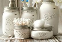 Mason Jar Crafts - My Projects / Mason Jar Projects - Crafts, Recipes, Votives/Vases, Storage & Organization Solutions, Etc., Etc. - Created by Me and Featured on One or Both of My Two Blogs: Mason Jar Crafts Love & It All Started With Paint