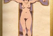 """""""Soviet erotic alphabet"""" / Watercolor on paper . 18,5 x24 , 5 cm so-called """"Soviet erotic alphabet"""" sculptor Sergei Dmitrievich Mercurov ( 1881-1952 ) - author of numerous monuments to Stalin (including the three largest in the USSR ) and VI Lenin"""