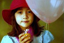 balloons kids girls - asian / girl with balloons