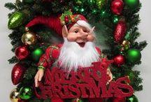 Fairytale Christmas / Christmas wreaths with fairies and elves.