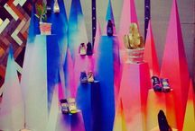 Visual merchandising / Clever ideas for window and shop dressing.
