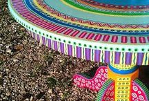 Whimsical Paint / Whimsical Painted Chairs, Tables, Benches:  Painting Techniques