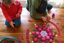 Land Art / Natural found materials, sacred geometry, patterns, structures, and mandalas for kids to create wherever they are!