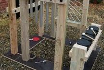 Outdoor Classroom Music Station / Outdoor classroom music station, recycled, upcycled and natural materials
