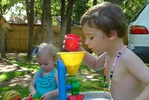 Backyard play / Sunshine, plants, dirt and room to run: essentials of early childhood!