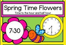 Math ideas, time / Learning to tell time on digital and analog clocks