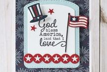 Fourth of July / Patriotic / Handmade Patriotic Cards - Thank You For Your Service, Fourth of July, 4th of July, Independence Day
