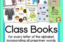 Class books / Creating class books is an awesome way to engage your students in writing and reading.