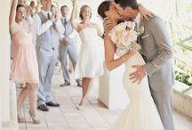 weddings / grey and pink