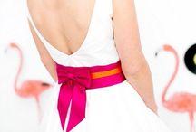 weddings / pink and orange