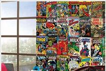 Superheroes !! / All of your favorite heroes come to life on your wall !