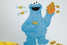 Sesame Street Wall Decor !! / We love these big beautiful decals from the wallstickeroutlet.com