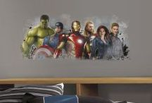 Avengers Wall Decals / Transform a room in seconds with our peel and stick wall stickers ! Check our Avengers collection our and more at wallstickeroutlet.com