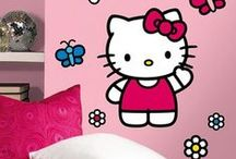 Hello Kitty Room Transformation / Transform your room with these super easy to use Hello Kitty wall decals from wallstickeroutlet.com !