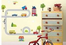 Trains Planes And Trucks Wall Decals / Decorate your little ones room with their favorite cartoon cars and more !