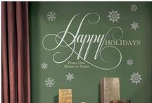 Holiday Wall Decor / Decorate for every special occasion with our reusable peel and stick wall decals from Wallstickeroutlet.com