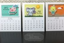 Calendar Critters / See all the different ways you can use TE's calendar critters!