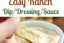 Dressing recipes / Recettes de sauces pour salades et autres.