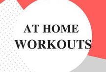 At Home Workouts / Women's home fitness for beginners to intermediate. Strength, cardio, flexibility training and workouts for abs too!