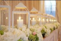 Centerpieces / Check with your venue about candles.  Many have strict policies on candles.   Here at Zuccaro's we ask candles are in a class enclosure and no more than 5 per table.