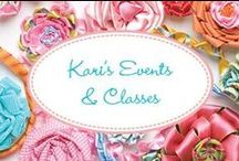 Kari's Events & Classes / Find out where Kari will be teaching & what she is teaching!