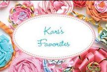 Kari's Favorites! / My very favorite items available at karimeaway.com.
