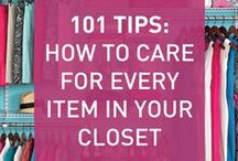 Storing & Caring for your Clothes / So, you've built up a beautiful wardrobe and an army of accessories.  Now what?  Make your fashion investment last for a long time by properly caring for and storing your clothing. #organization #wardrobe #closet