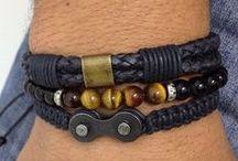 Bijoux perles Homme