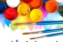 Art for Kids / Art education, teaching kids about color, artists, color mixing, color theory, color wheel, famous artists, art history, art lessons. Free printables that teach kids about art.
