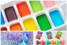 Make Your Own Art Supplies / How to make your own art supplies, make your own paint, make your own clay, homemade playdough recipes. Make your own art supplies. How to make your own crayons. Make your own craft supplies. Save money on art supplies. Save money on craft supplies.