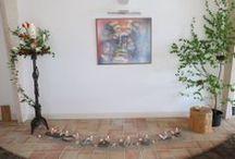 40-dagentijd 2014 / In de 40-dagen tijd zijn we met stapstenen op weg gegaan naar Pasen. Elke zondag legden we in onze gebedsruimte een nieuwe stapsteen en doordeweeks een kiezeltje. Volg hier de weg naar Pasen